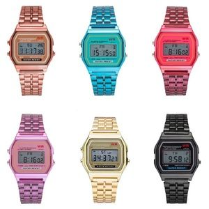 Other - Colorful blue digital watch.